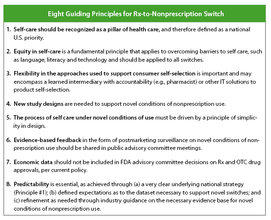 GUIDING PRINCIPLES FOR ADDRESSING RX-TO-OTC SWITCH IN THE